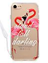 Para iPhone 8 iPhone 8 Plus Case Tampa Transparente Estampada Capa Traseira Capinha Flamingo Rigida Acrilico para Apple iPhone 8 Plus