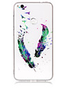 Case For Huawei P8 Lite (2017) P10 Lite Phone Case TPU Material IMD Process Feather Pattern HD Flash Powder Phone Case P9 Lite P8 Lite