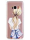 Capinha Para Samsung Galaxy S8 Plus S8 Estampada Capa traseira Mulher Sensual Macia TPU para S8 Plus S8 S7 edge S7 S6 edge S6