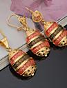Жен. Свадебные комплекты ювелирных изделий Стразы бижутерия Мода Euramerican Позолота Овальной формы Назначение Для вечеринок Для