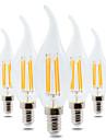 YWXLIGHT® 4 Вт. 300-400 lm E14 Круглые LED лампы CA35 4 светодиоды COB Диммируемая Декоративная Тёплый белый AC 220-240V
