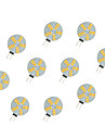 10pcs 2.5W 220 lm G4 LED a Double Broches 15 diodes electroluminescentes SMD 5630 Blanc Chaud Blanc DC 12V
