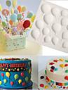 aniversario baloes fundente bolo moldes de silicone cupcake mofo cozinhas chocolate confeitaria
