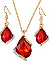 Women\'s Jewelry Set Necklace/Earrings Bridal Jewelry Sets Crystal Luxury Geometric Dangling Style Pendant Rhinestone Bohemian Rhinestones