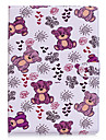 For Apple Ipad 2 3 4 Air2 Pro 10.5 Case Cover Bear Pattern PU Material Three Fold Flat Computer Shell Phone Case