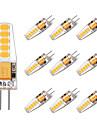 BRELONG® 10pcs 2W 250lm G4 LED-lamper med G-sokkel T 10 LED perler SMD 2835 Varm hvit Hvit 12V