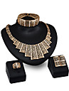 Women\'s Jewelry Set - Rhinestone, Gold Plated Personalized, Fashion Include Pendant Necklace Gold For Party / Evening Party