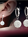 Women\'s Drop Earrings Rhinestone Fashion Costume Jewelry Silver Plated Alloy Drop Jewelry For Wedding Party Daily Casual Evening Party