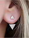 Women\'s Stud Earrings Rhinestone Fashion Costume Jewelry Alloy Triangle Shape Jewelry For Daily