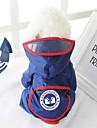 Собака Дождевик Одежда для собак Геометрический принт Красный Синий Ткань Костюм Назначение Весна & осень Лето Муж. Жен. На каждый день