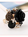 New Fashionable Sweet Resin Rose Ring Can Adjust Individual Ring Folk Ring