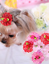 Cat Dog Hair Accessories Hair Bow Dog Clothes Terylene Spring/Fall Cosplay Wedding Rose Red Pink For Pets