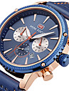 Herrn Armbanduhr Einzigartige kreative Uhr Armbanduhren fuer den Alltag Sportuhr Modeuhr Quartz Kalender Chronograph Stopuhr Echtes Leder