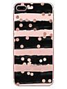 Назначение iPhone X iPhone 8 Чехлы панели Прозрачный С узором Задняя крышка Кейс для Полосы / волосы Мягкий Термопластик для Apple iPhone