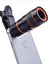 Boucles d\'oreille 8x long focale optique optique optique camera optique 0.63x grand angle 15x macro lentille de poisson pour iphone huawei