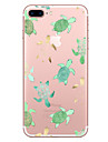 Capinha Para Apple iPhone X / iPhone 8 Transparente / Estampada Capa traseira Animal Macia TPU para iPhone X / iPhone 8 Plus / iPhone 8