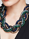 Women\'s Statement Necklaces Cross Alloy Fashion Statement Jewelry Vintage Black Brown Red Green Blue Jewelry ForParty Special Occasion