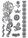 BlackLace Henna Indian Body Temporary Sexy Tattoos Sticker For Women,Teens,Girls(8 Patterns in 1 Sheet) J021