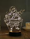 1 Set, Popular Home Acrylic 3D Night Light LED Table Lamp USB Mood Lamp Gifts, Santa Claus