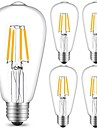 5pcs 4 W 360 lm E26 / E27 Bec Filet LED ST64 4 LED-uri de margele COB Decorativ Alb Cald / Alb Rece 220-240 V / 5 bc / RoHs