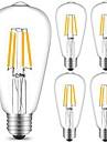 5pcs 4W 360 lm E27 LED필라멘트 전구 ST64 4 LED가 COB 장식 따뜻한 화이트 차가운 화이트 AC 220-240V