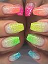 12pcs/set Poudre / Poudre de paillettes / Nail Glitter Elegant & Luxueux / Brille & Scintille / Nail Glitter Nail Art Design