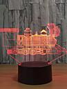 1 комплект 3D ночной свет Сенсорный 7-Color USB Сенсорный датчик Меняет цвета