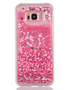 Case For Samsung Galaxy S8 Plus S8 Flowing Liquid Transparent Pattern Back Cover Heart Glitter Shine Soft TPU for S8 Plus S8 S7 edge S7