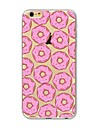 Capinha Para Apple iPhone X iPhone 8 Plus Transparente Estampada Capa Traseira Azulejo Comida Macia TPU para iPhone X iPhone 8 Plus