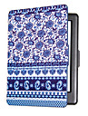 Smart Printed Protective Cover Leather Case For Kobo Glo HD (2015) Blue and White Porcelain Ereader Ebook Case