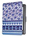Smart Case en cuir de couverture de protection imprime pour HD kobo Glo (2015) porcelaine bleue et blanche cas ebook ereader