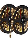 HKV 10m Flexible LED Light Strips 300 LEDs 5050 SMD Warm White / White / Blue Cuttable / Self-adhesive 12 V