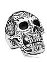 남성용 보석류 패션 Rock 스테인레스 티타늄 스틸 Skull shape 보석류 보석류 제품 Halloween 일상 캐쥬얼