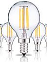 5pcs 4W 360 lm E14 Ampoules a Filament LED G45 4 diodes electroluminescentes COB Decorative Blanc Chaud Blanc Froid AC 220-240V