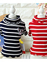 Dog Shirt / T-Shirt Dog Clothes Casual/Daily Stripe Black Red