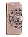 Capinha Para Samsung Galaxy NNote 8 Carteira Porta-Cartao Com Suporte Flip Com Relevo Magnetica Corpo Inteiro Flor Rigida Couro Ecologico