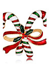 ブローチ - ローズゴールドめっき ファッション ブローチ 虹色 用途 クリスマス / 新年