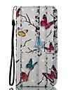 caso para maca iphone 7 mais 7 estojo porta cartao porta-carteira com suporte flip pattern caixa de corpo inteiro 3d borboleta dura couro