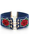 Жен. Ожерелья-бархатки В форме цветка Сплав Хип-хоп Цветочный принт Бижутерия Назначение Повседневные Свидание