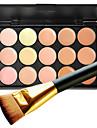 1pc 15 couleurs pro creme faciale a contour naturel maquillage facial maquillage maquillage palette et 1 brosse plate