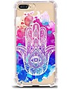 Pour iPhone X iPhone 8 Etuis coque Ultrafine Transparente Motif Coque Arriere Coque Mandala Flexible PUT pour Apple iPhone X iPhone 8