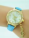 Women\'s Fashion Watch Wrist watch Quartz Rhinestone Leather Band Casual Black White Blue Orange Green Gold Pink