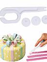 1pc 3 колесо помадный торт ролик моделирование рельефный режущий инструмент пластиковый кекс украшающий нож помадный резец сахара