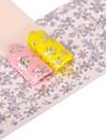 1 Adesivos para Manicure Artistica Purpurina Estampado Acessorios Arte Deco/Retro Efeito 3D Desenhos Animados Artigos DIY Adesivo
