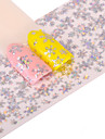 1 Nail Art Sticker  Glitter Pattern Accessories Art Deco/Retro 3D Nail Stickers Cartoon 3-D Sticker DIY Supplies Makeup Cosmetic Nail Art