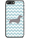 Capinha Para Apple iPhone X iPhone 8 Estampada Capa traseira Linhas / Ondas Cachorro Macia TPU para iPhone X iPhone 8 Plus iPhone 8