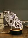 1 Set, Popular Home Acrylic 3D Night Light LED Table Lamp USB Mood Lamp Gifts, Shark