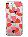 Capinha Para Apple iPhone X iPhone 8 Estampada Capa traseira Flor Macia TPU para iPhone X iPhone 8 Plus iPhone 8 iPhone 7 Plus iPhone 7