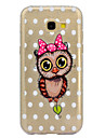 For Case Cover Transparent Pattern Back Cover Case Glitter Shine Owl Soft TPU for Samsung Galaxy A3(2017) A5(2017)