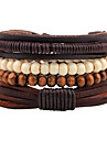 Men\'s Women\'s woven Bead Bracelet Leather Bracelet Wooden Leather Wood Bohemian Bracelet Jewelry Coffee For Casual Going out